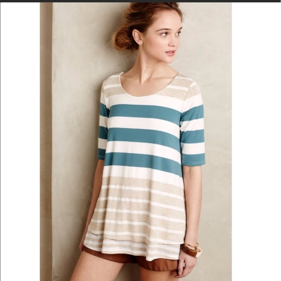 554f4e0fe75 Anthropologie Tops - Puella Striped Mix Swing Tunic top Anthropologie
